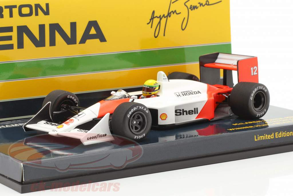 Ayrton Senna McLaren MP4//4 #12 Weltmeister Japan GP F1 1988 1:43 Minichamps