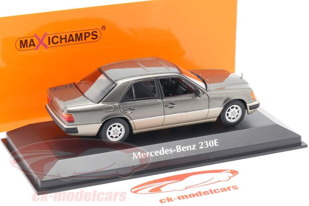 Mercedes-Benz 230E (W124) Bouwjaar 1991 grijs metalen 1:43 Minichamps