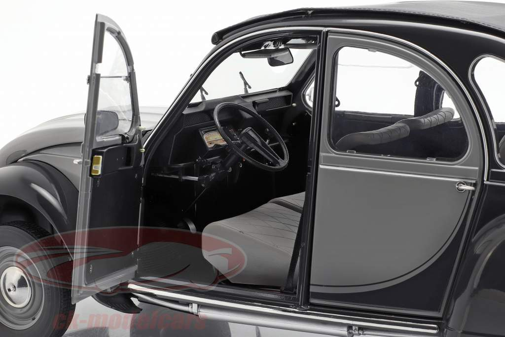 Citroen 2CV Charleston Baujahr 1982 grau / schwarz 1:8 Premium X