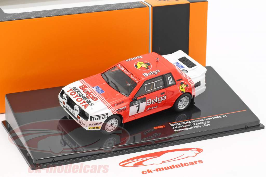 Toyota Celica TwinCam Turbo #1 Haspengouw Rallye 1985 Kankkunen, Gallagher 1:43 Ixo