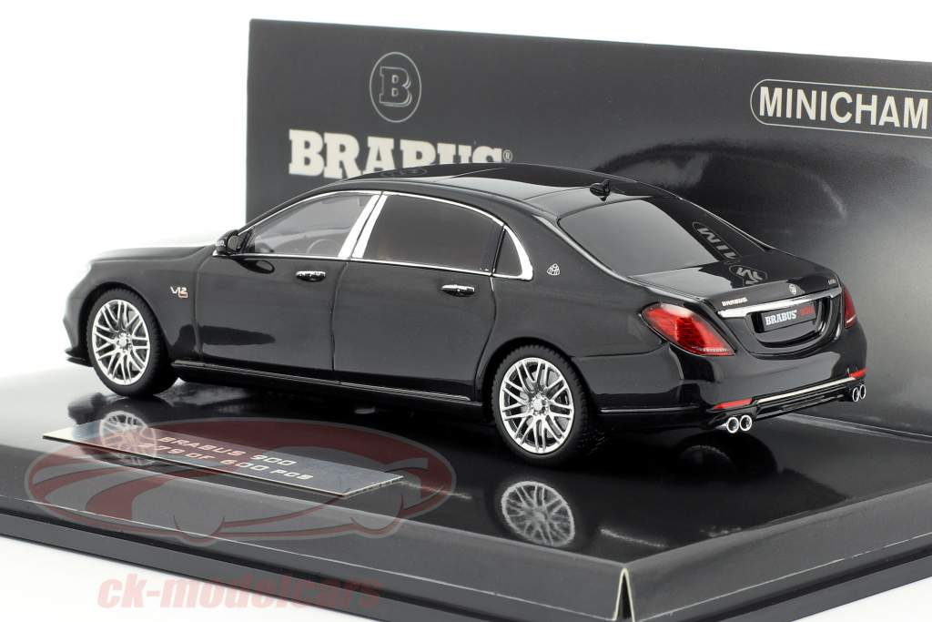 Maybach Brabus 900 baserede på Mercedes-Benz Maybach S600 2016 sort 1:43 Minichamps