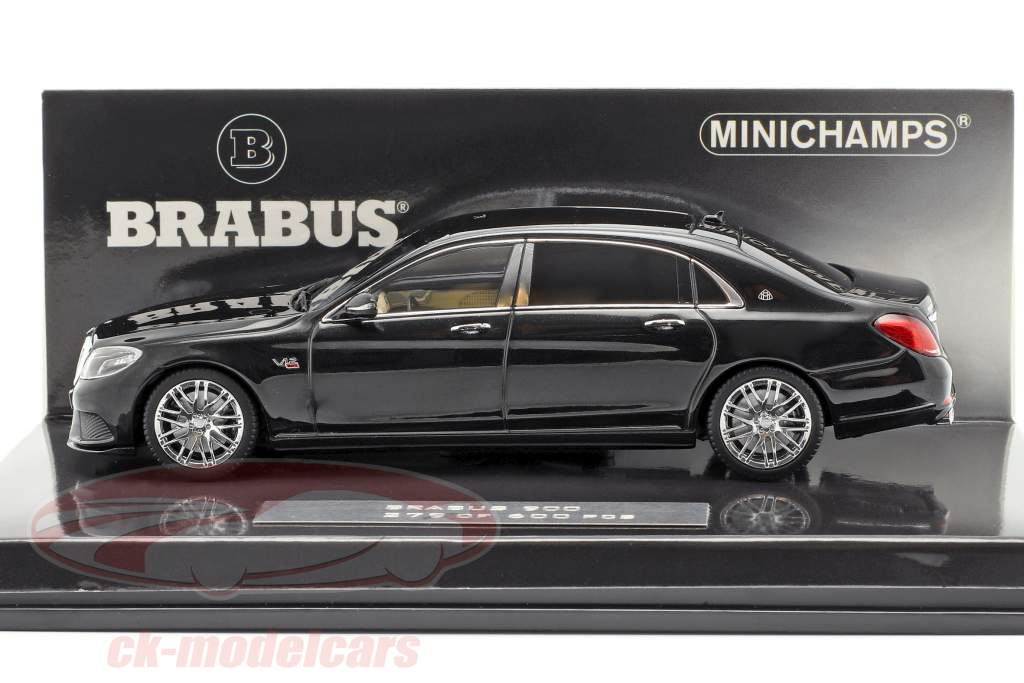 Maybach Brabus 900 gebaseerde op Mercedes-Benz Maybach S600 2016 zwart 1:43 Minichamps