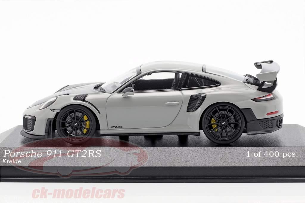 Porsche 911 (991 II) GT2 RS año de construcción 2018 tiza gris / negro 1:43 Minichamps