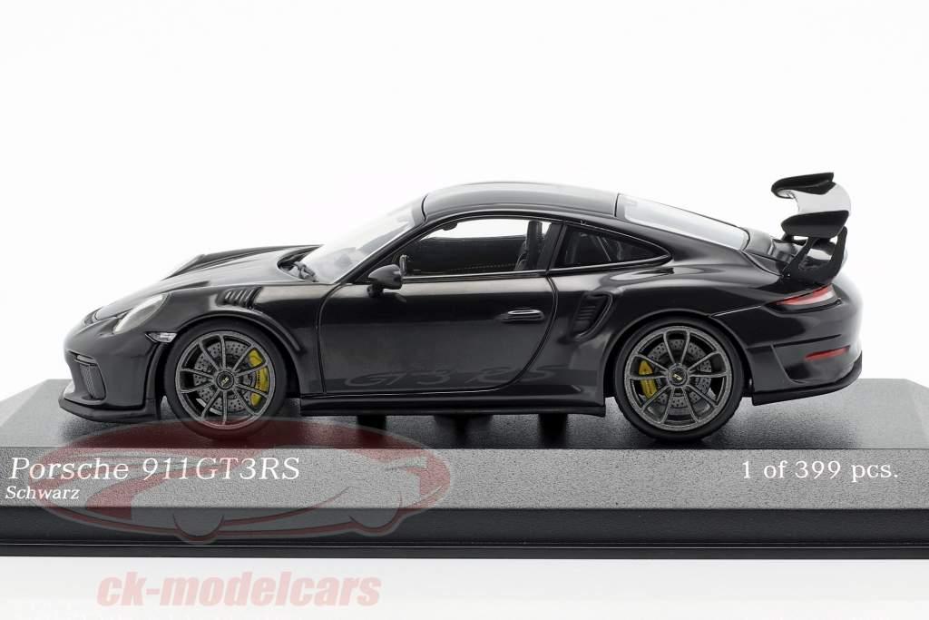 Porsche 911 (991 II) GT3 RS Bouwjaar 2018 zwart 1:43 Minichamps