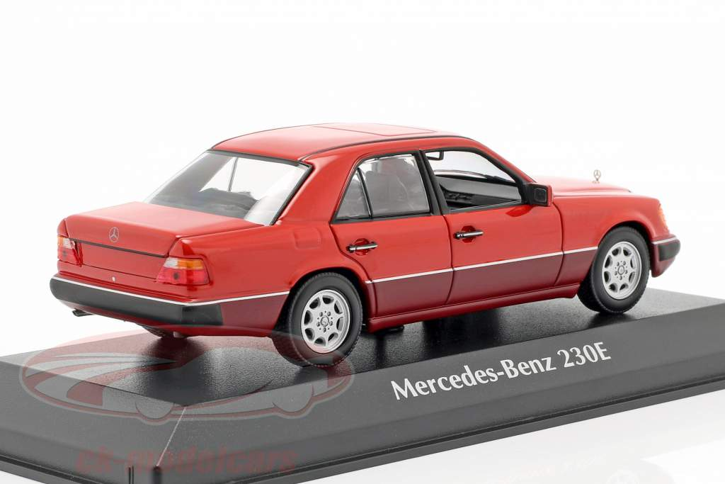 Mercedes-Benz 230E (W124) Opførselsår 1991 rød 1:43 Minichamps