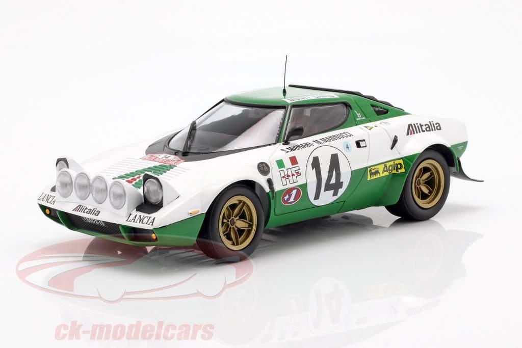 Lancia Stratos HF #14 winnaar Rallye Monte Carlo 1975 1:18 Minichamps