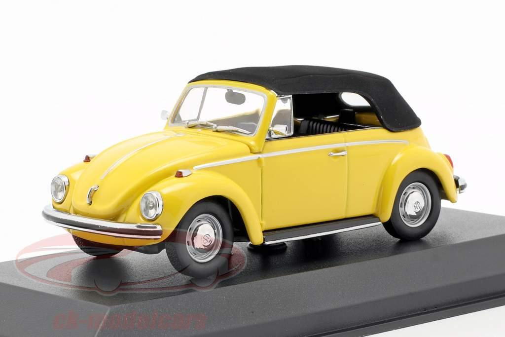 Volkswagen VW 1302 Cabriolet Opførselsår 1970 gul 1:43 Minichamps