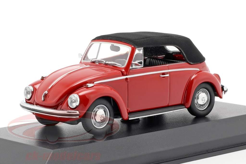 Volkswagen VW 1302 Cabriolet Bouwjaar 1970 rood 1:43 Minichamps
