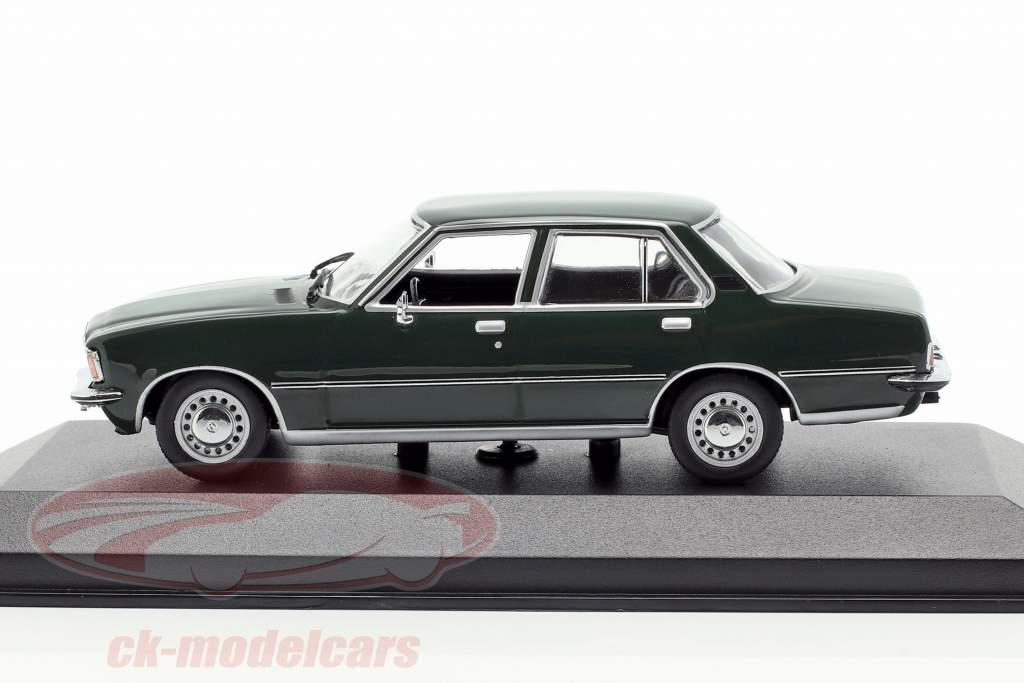 Opel Rekord D año de construcción 1975 oscuro verde 1:43 Minichamps