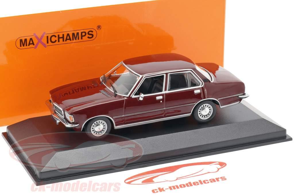 Opel Rekord D anno di costruzione 1975 scuro rosso 1:43 Minichamps