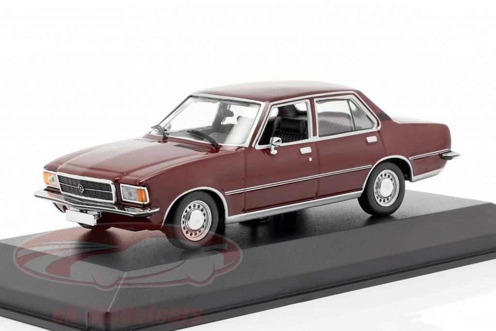 Opel Rekord D año de construcción 1975 oscuro rojo 1:43 Minichamps