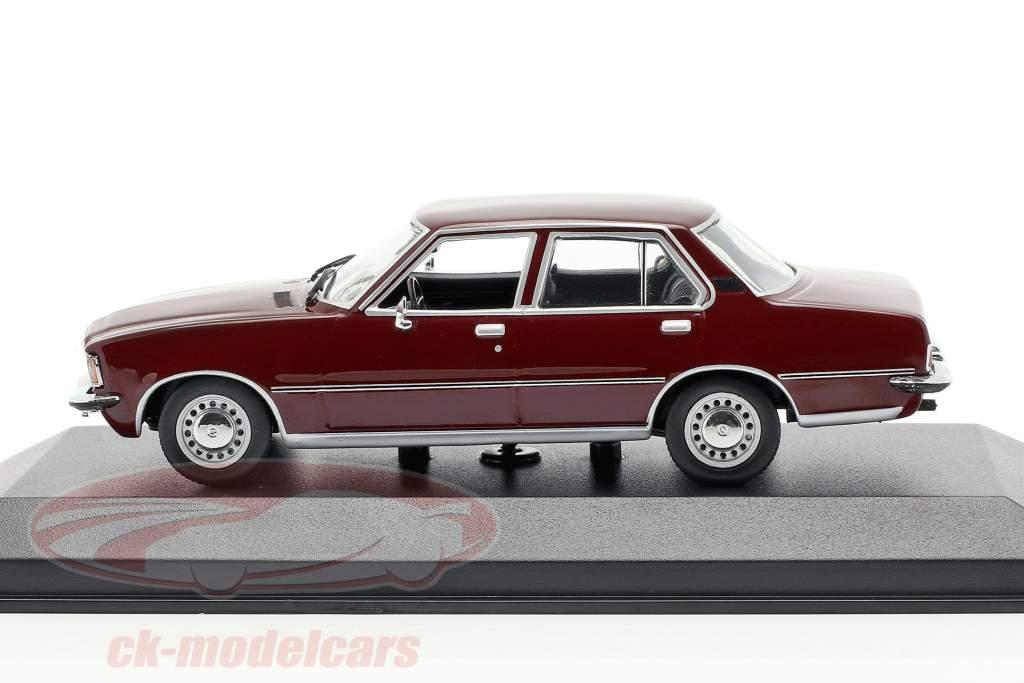 Opel Rekord D Bouwjaar 1975 donker rood 1:43 Minichamps