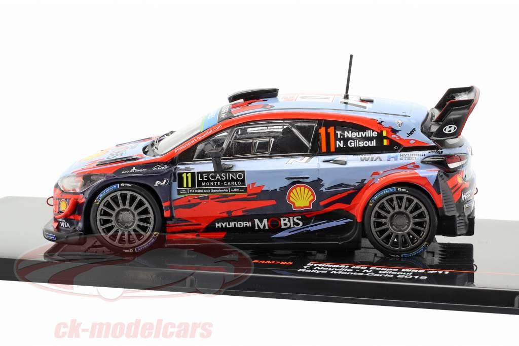 Hyundai i20 WRC #11 segundo Rallye Monte Carlo 2019 Neuville, Gilsoul 1:43 Ixo