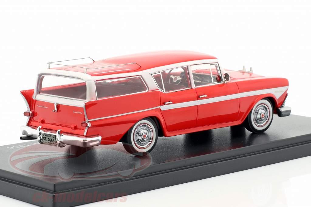 Rambler Custom Cross Country 6 Station Wagon anno di costruzione 1958 rosso 1:43 Neo