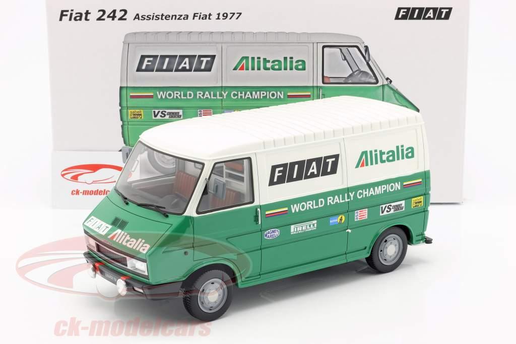 Fiat 242 furgone Rallye Assistance Lancia Team 1977 verde / bianco 1:18 Laudoracing Models