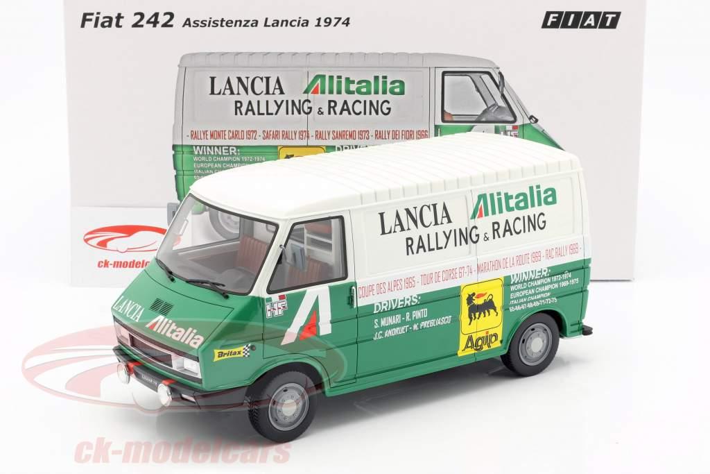 Fiat 242 Van Rallye Assistance Lancia Team 1974 grün / weiß 1:18 Laudoracing Models