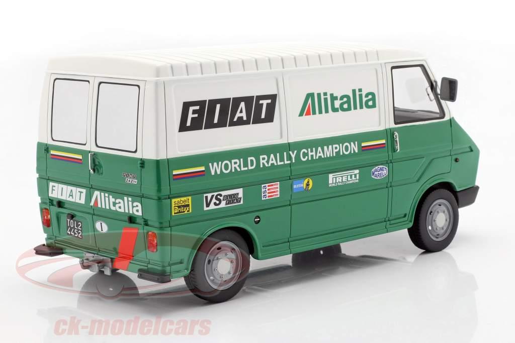 Fiat 242 furgoneta Rallye Assistance Lancia Team 1977 verde / blanco 1:18 Laudoracing Models