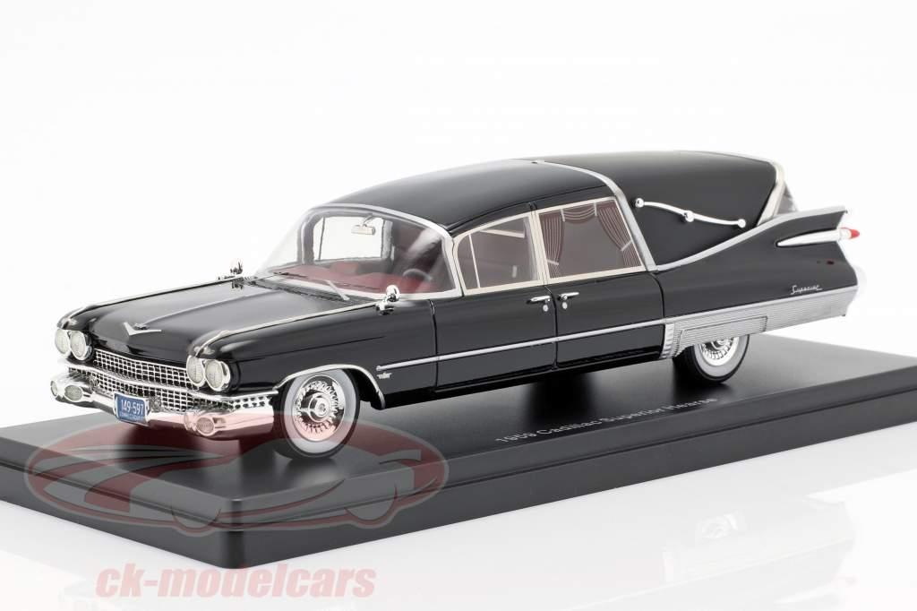 Cadillac Superior Crown Royale Landau lijkwagen 1959 zwart 1:43 Neo