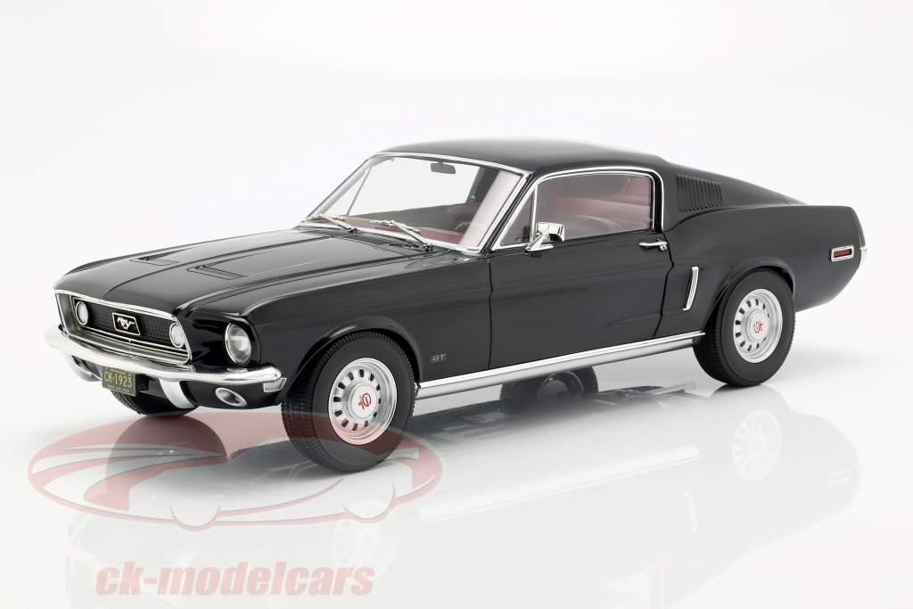 Ford Mustang Fastback ano de construção 1968 preto 1:12 Norev