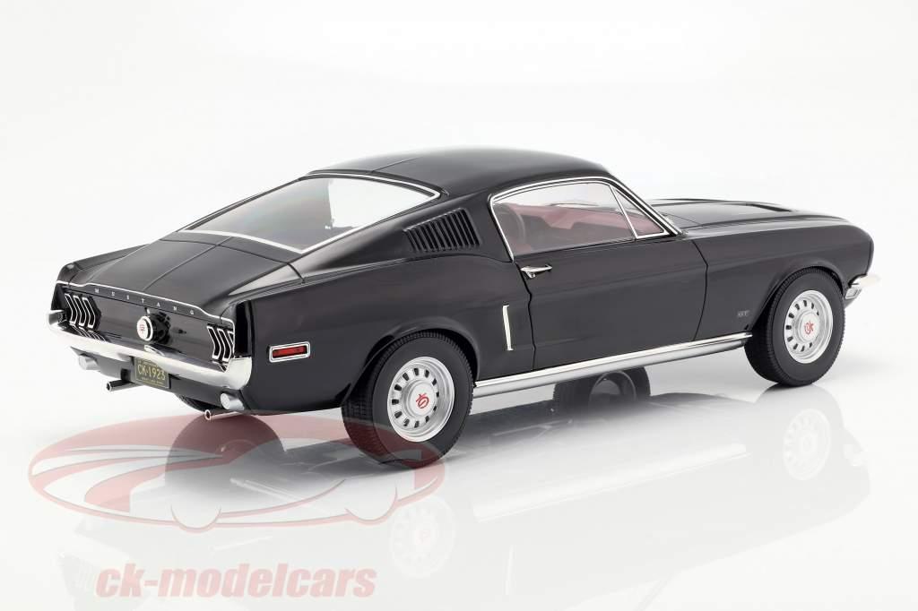 Ford Mustang Fastback année de construction 1968 noir 1:12 Norev