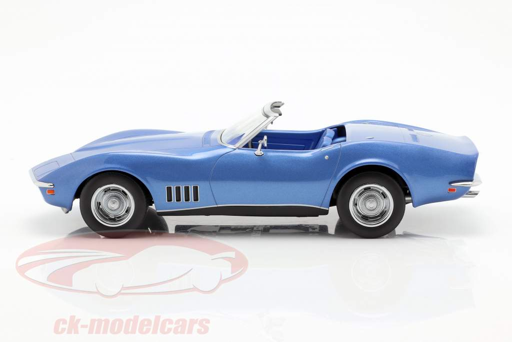 Chevrolet Corvette Convertible Baujahr 1969 blau metallic 1:18 Norev