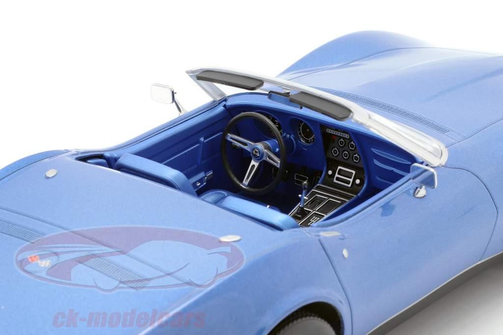 Chevrolet Corvette Cabriolet Opførselsår 1969 blå metallisk 1:18 Norev