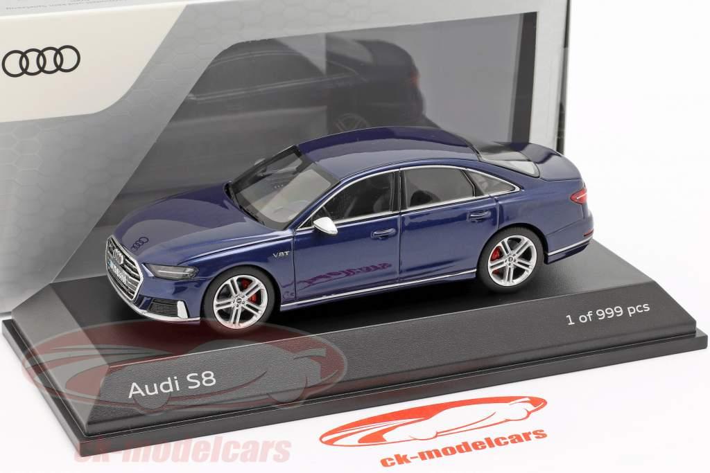 Audi S8 (D5) sedan ano de construção 2019 navarra azul metálico 1:43 Jada Toys