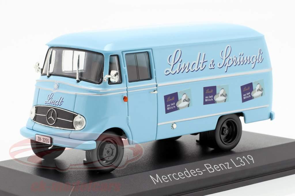 Mercedes-Benz L319 Lindt & Sprüngli année de construction 1957 bleu clair 1:43 Norev