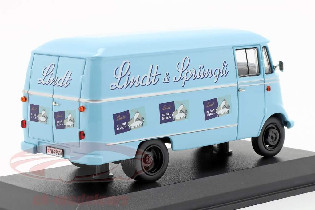 Mercedes-Benz L319 Lindt & Sprüngli anno di costruzione 1957 azzurro 1:43 Norev