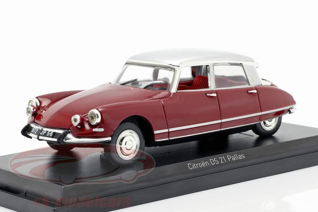 Citroen DS21 Pallas ano de construção 1967 escuro vermelho / prata 1:43 Norev