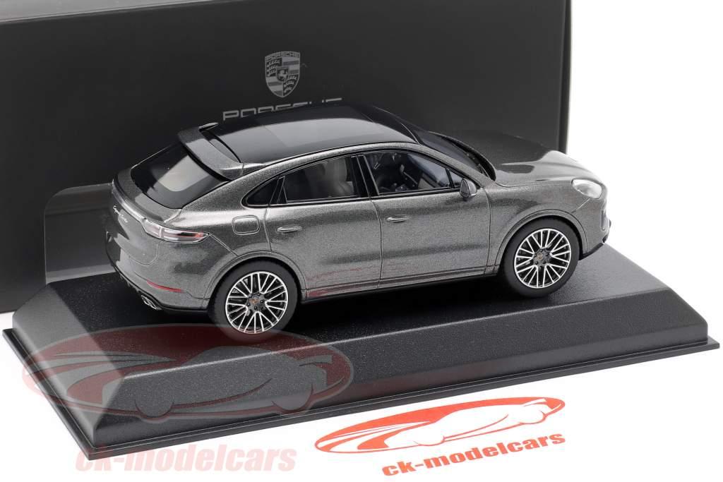 Porsche Cayenne Turbo coupe Opførselsår 2019 mørkegrå metallisk 1:43 Norev