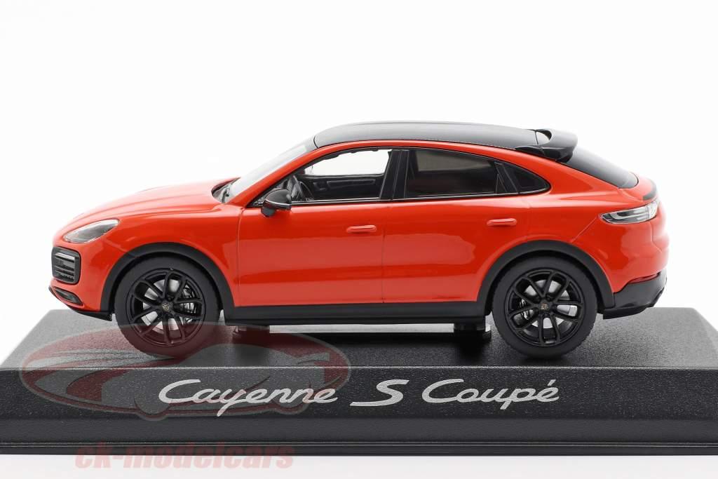 Porsche Cayenne S coupé année de construction 2019 orange 1:43 Norev