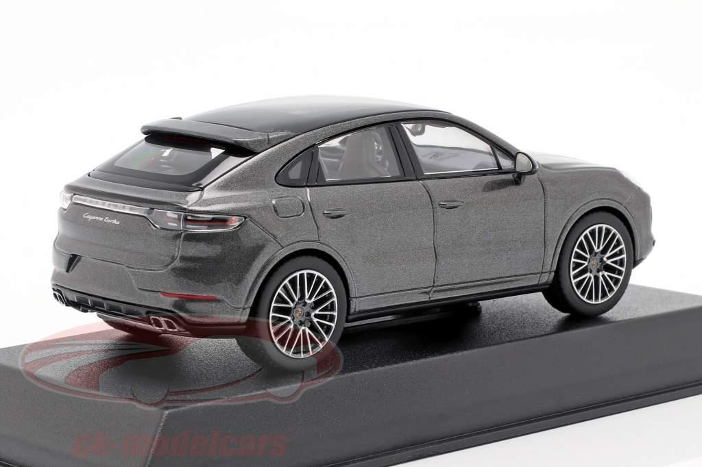 Porsche Cayenne Turbo coupe anno di costruzione 2019 grigio scuro metallico 1:43 Norev