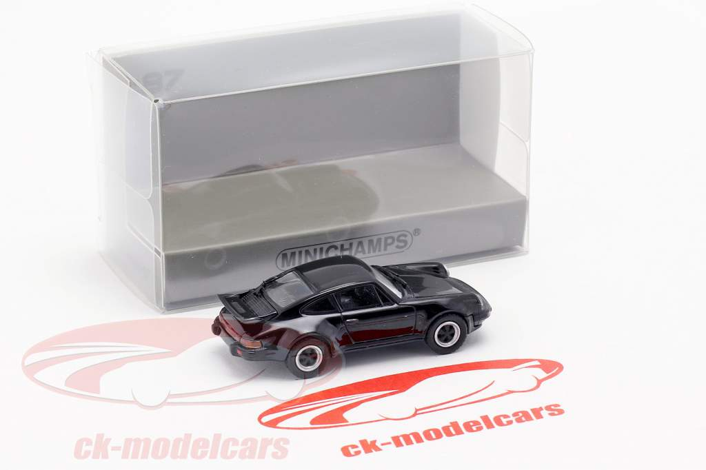 Porsche 911 Turbo (930) año de construcción 1977 negro 1:87 Minichamps