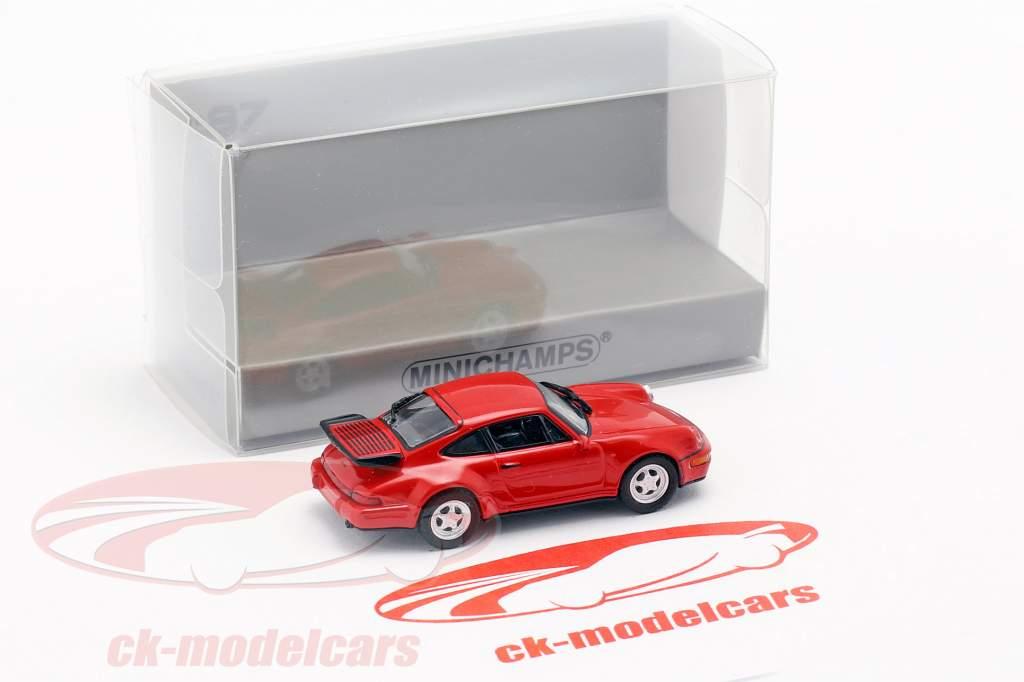 Porsche 911 Turbo (964) ano de construção 1990 vermelho 1:87 Minichamps