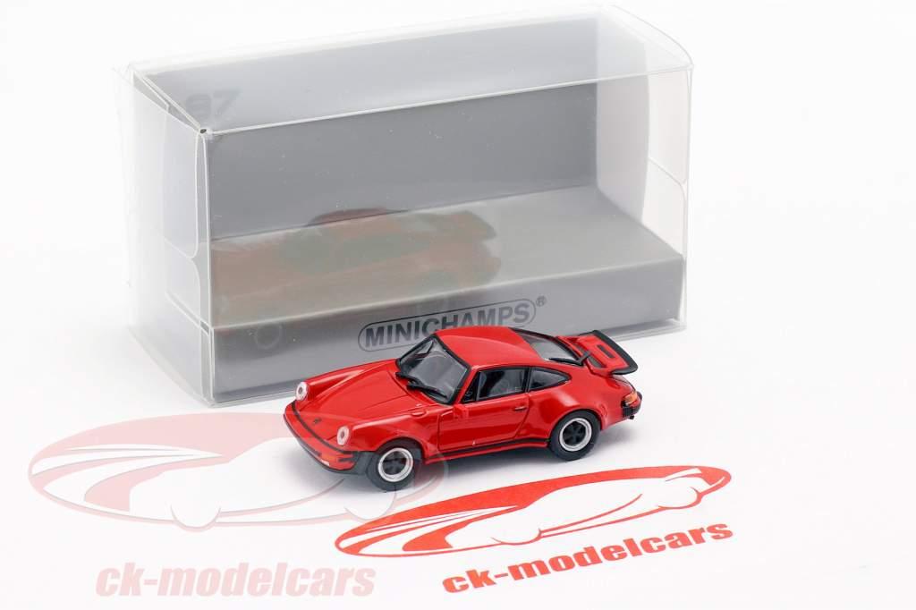 Porsche 911 Turbo (930) ano de construção 1977 vermelho 1:87 Minichamps