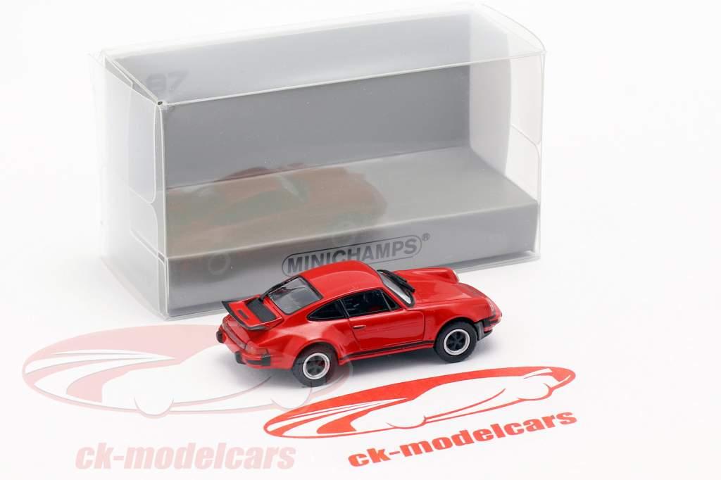 Porsche 911 Turbo (930) anno di costruzione 1977 rosso 1:87 Minichamps