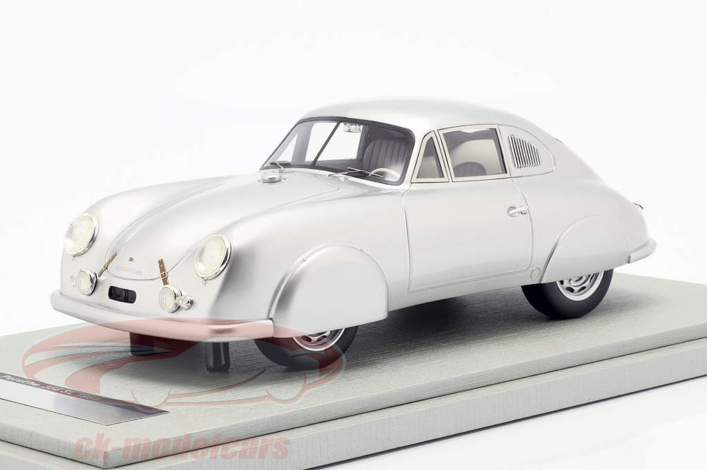 Porsche 356 SL Street Version Baujahr 1951 silber 1:18 Tecnomodel