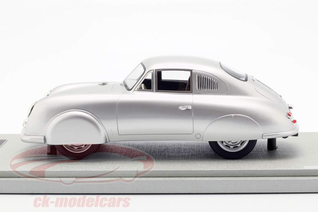 Porsche 356 SL Street Version Opførselsår 1951 sølv 1:18 Tecnomodel