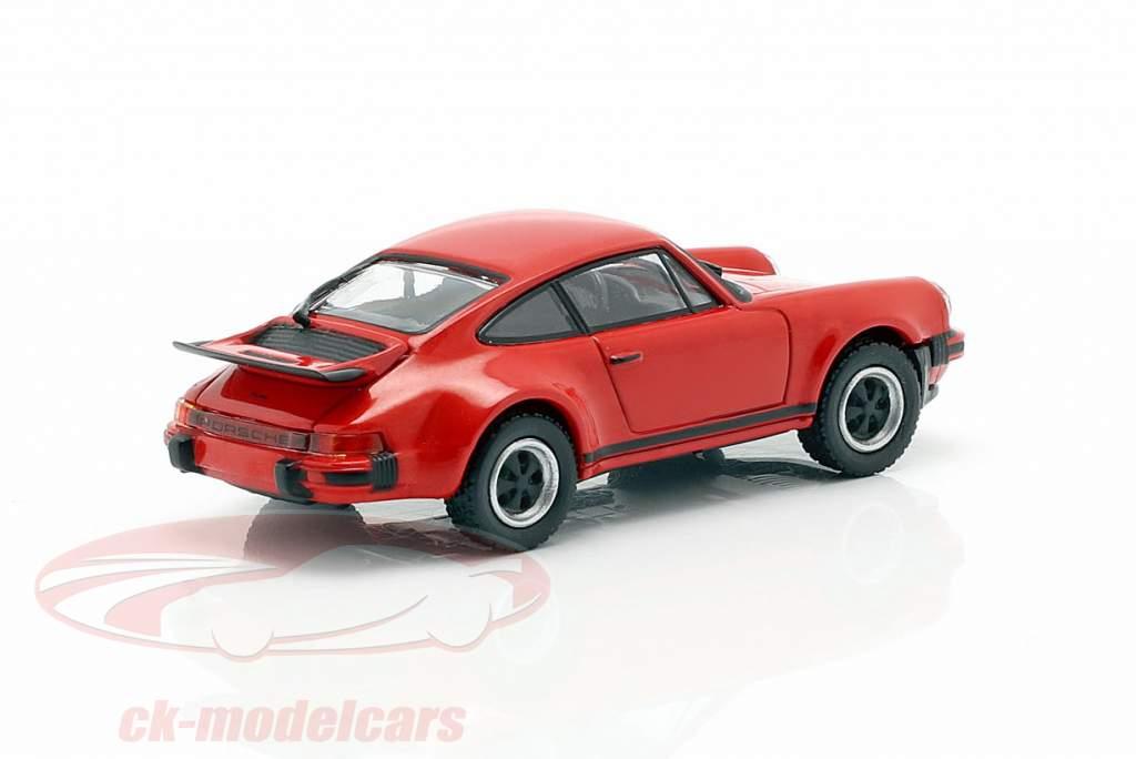 Porsche 911 Turbo (930) Baujahr 1977 rot 1:87 Minichamps
