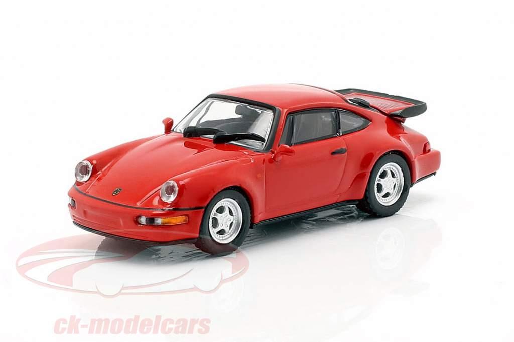 Porsche 911 Turbo (964) année de construction 1990 rouge 1:87 Minichamps