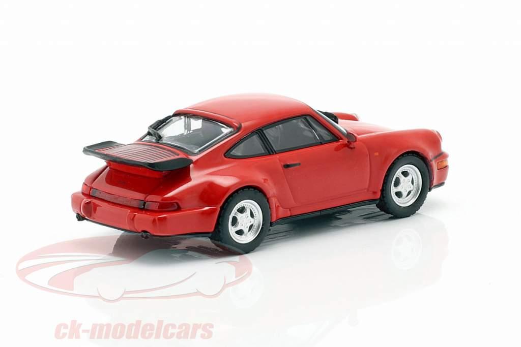 Porsche 911 Turbo (964) Baujahr 1990 rot 1:87 Minichamps
