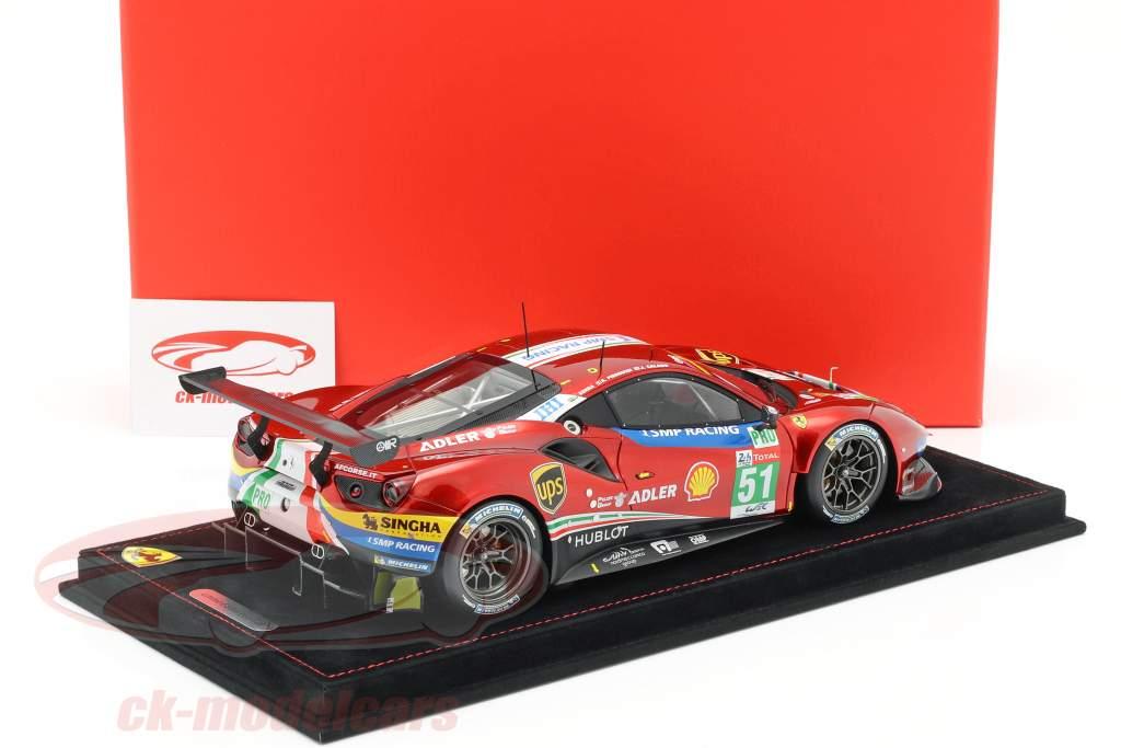 Ferrari 488 GTE #51 24h LeMans 2018 Calado, Pier Guidi, Serra 1:18 BBR