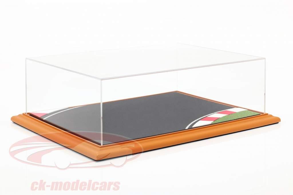 høj kvalitet akryl udstilling tilfælde med diorama bundplade Race Track 1:18 Atlantic