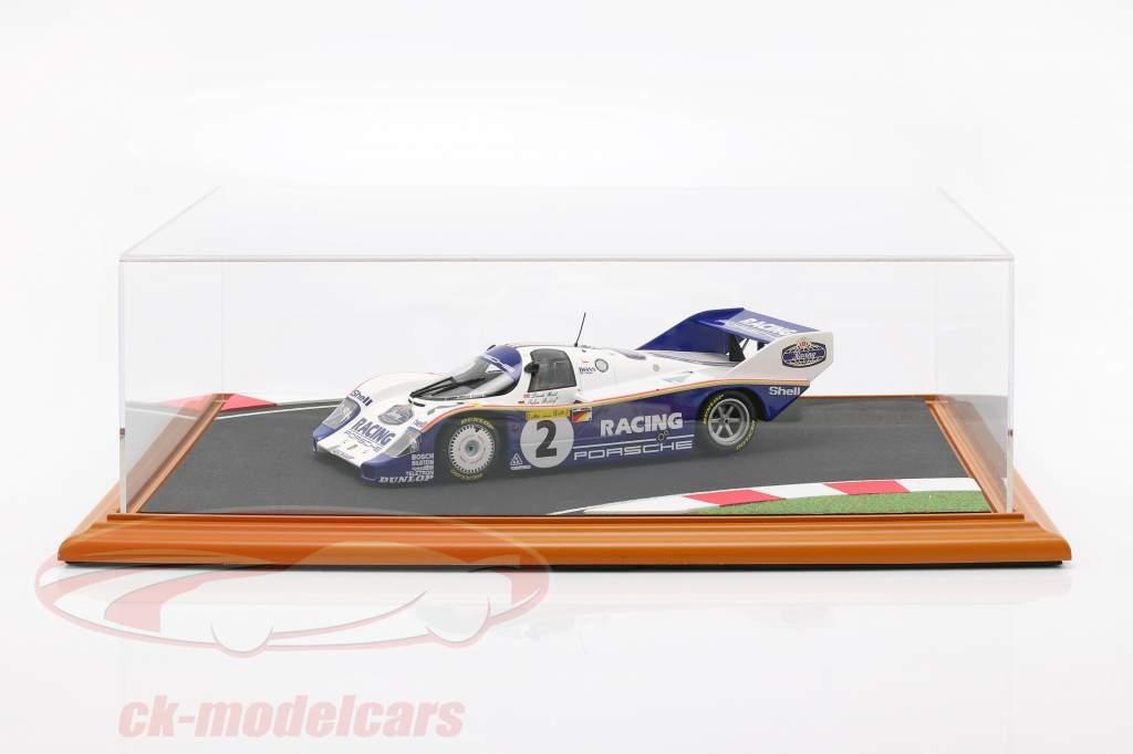 haut qualité acrylique afficher cas avec diorama plaque de base Race Track 1:18 Atlantic