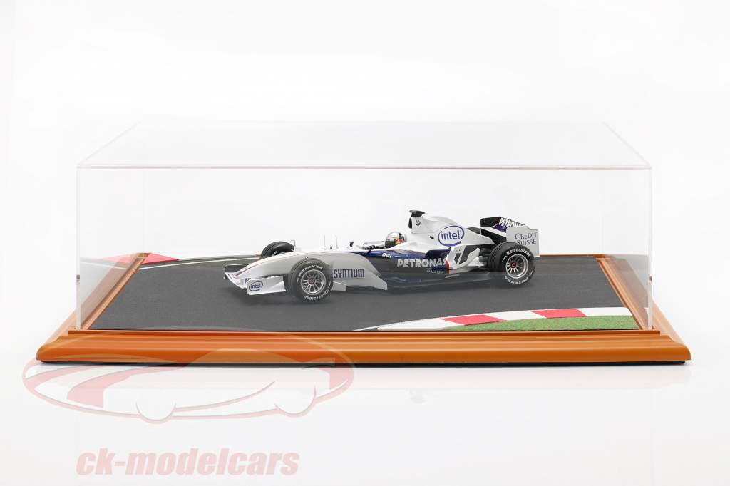 alto calidad acrílico visualización caso con diorama placa base Race Track 1:18 Atlantic