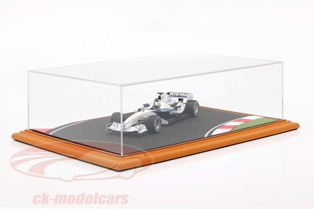 alto qualità acrilico display caso con diorama piastra di base Race Track 1:18 Atlantic