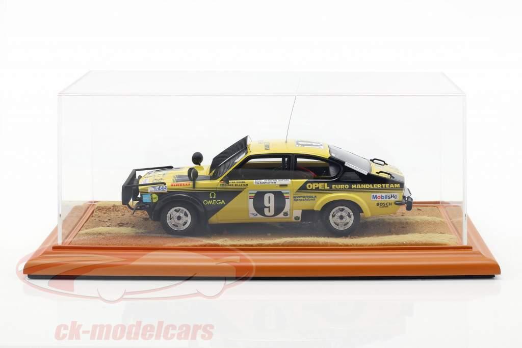 alto calidad acrílico visualización caso con diorama BasePlate Desert Road 1:18 Atlantic