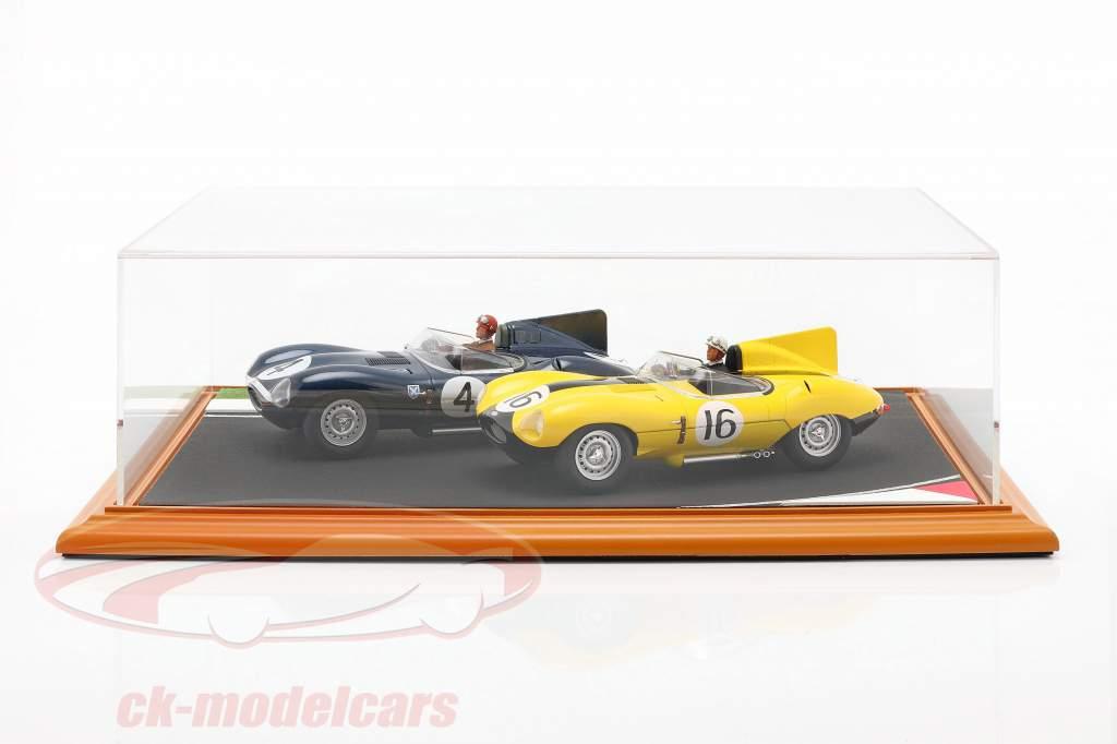 Hochwertige Acryl Vitrine mit Diorama-Bodenplatte Race Track 1:18 Atlantic