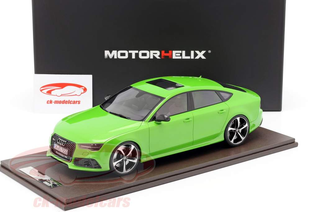 Audi RS7 Sportback Performance Bouwjaar 2016 appelgroen 1:18 MotorHelix